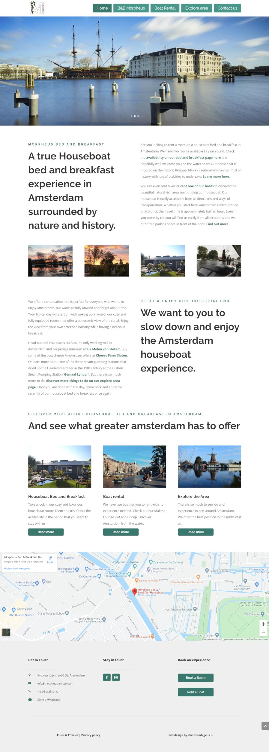 Bed and breakfast website laten maken in Wordpress. christiandegeus.nl